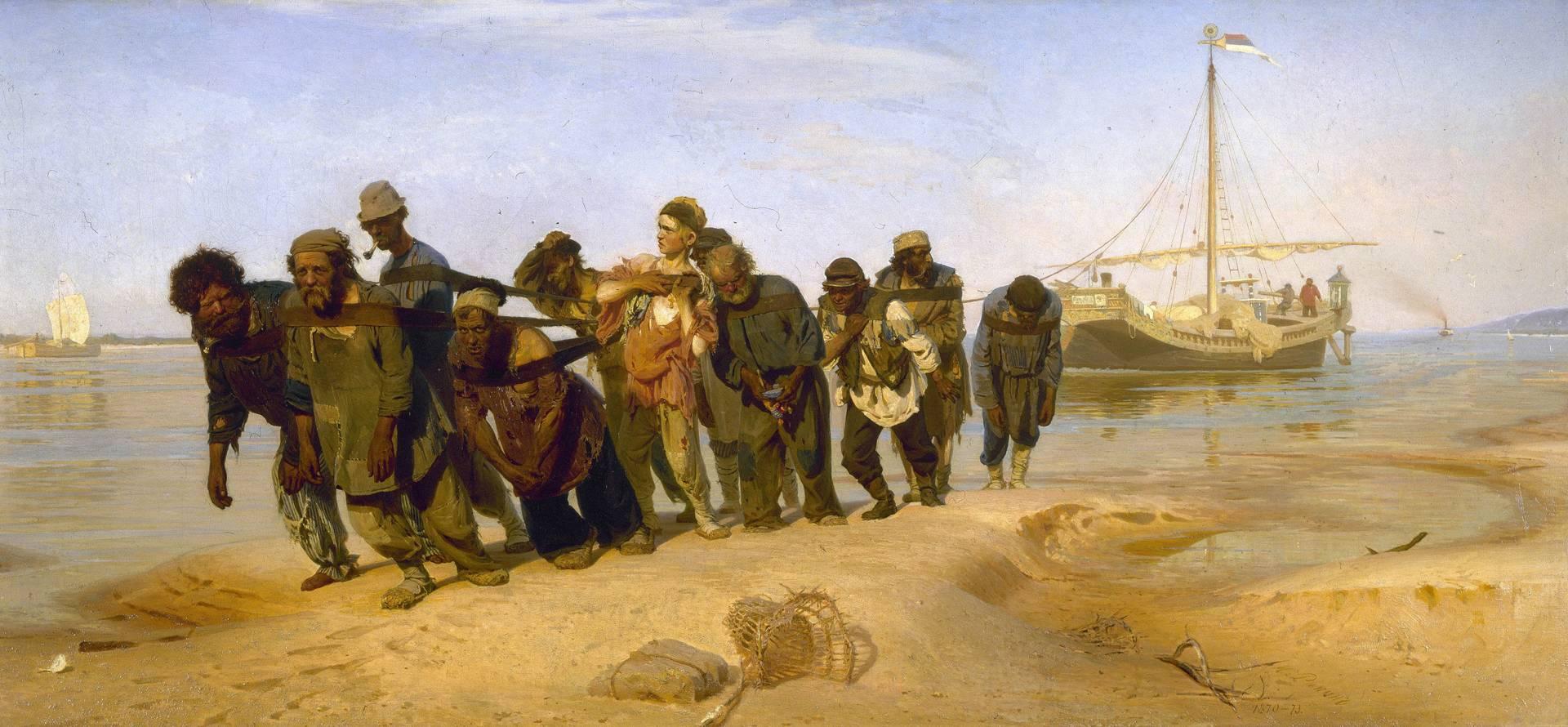 Илья Репин. Бурлаки на Волге. 1872–1873