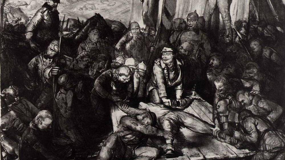 Джордж Уэсли Беллоуз. Божья кара. Казнь в Англии (фрагмент). 1918