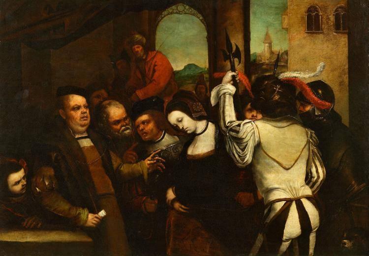 Джордано Лука. Сусанна перед судьями. Около 1654