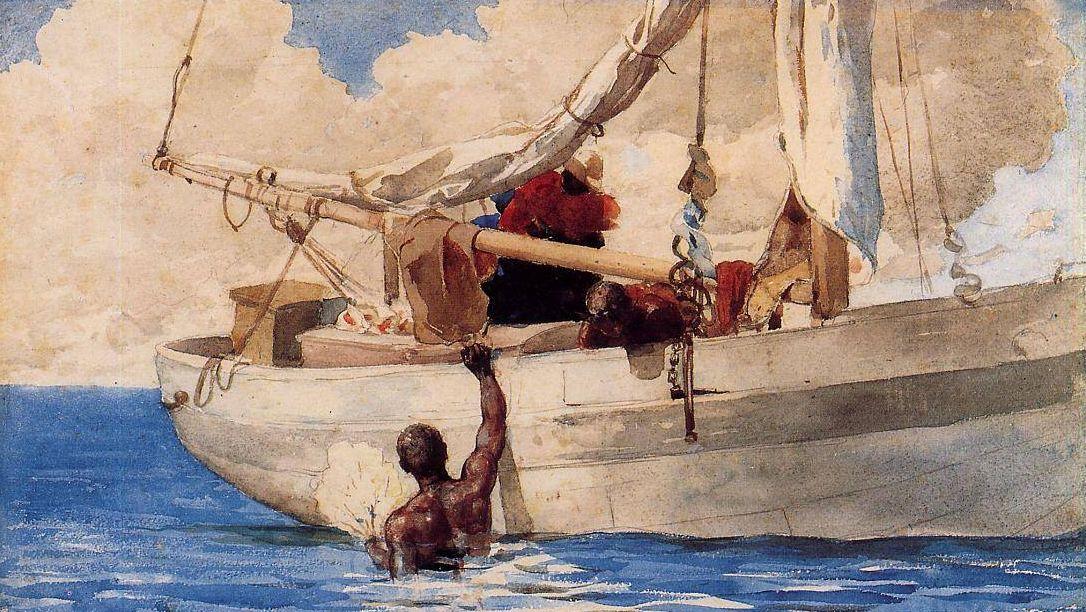 Уинслоу Хомер. Ныряльщики за кораллами. 1885.
