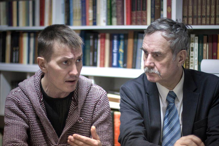 Публицист Алексей Банников и доктор философии Вадим Егоров