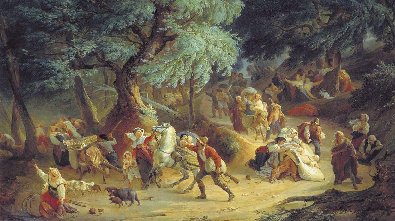 Басин Петр. Землетрясение в Рокка ди Папа близ Рима. 1830
