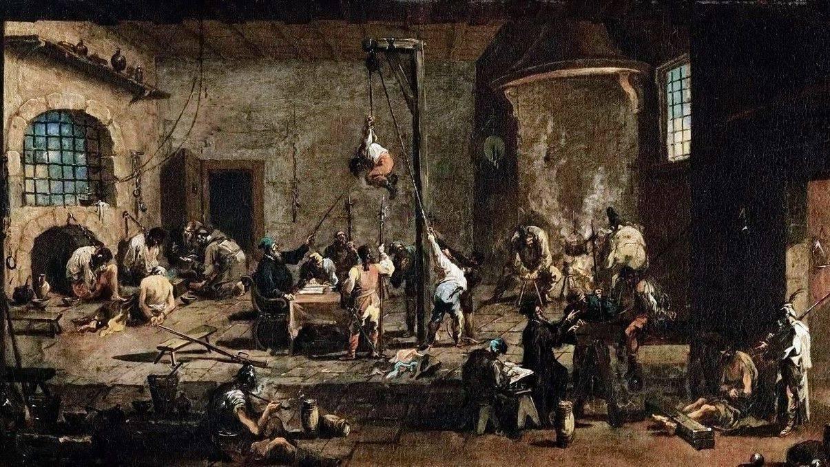 Алессандро Маньяско. Пытки в тюрьме. 1720
