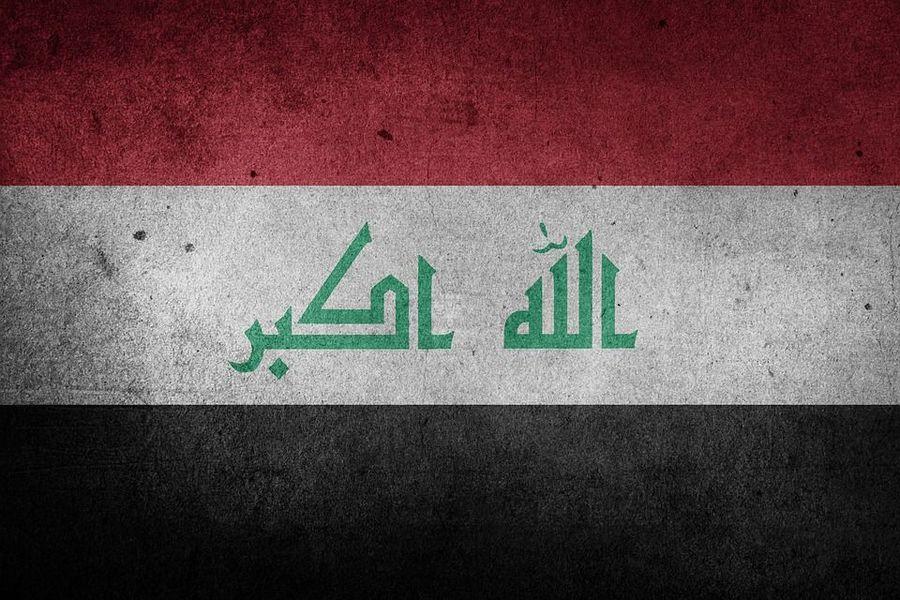 Ирак, национальный флаг.