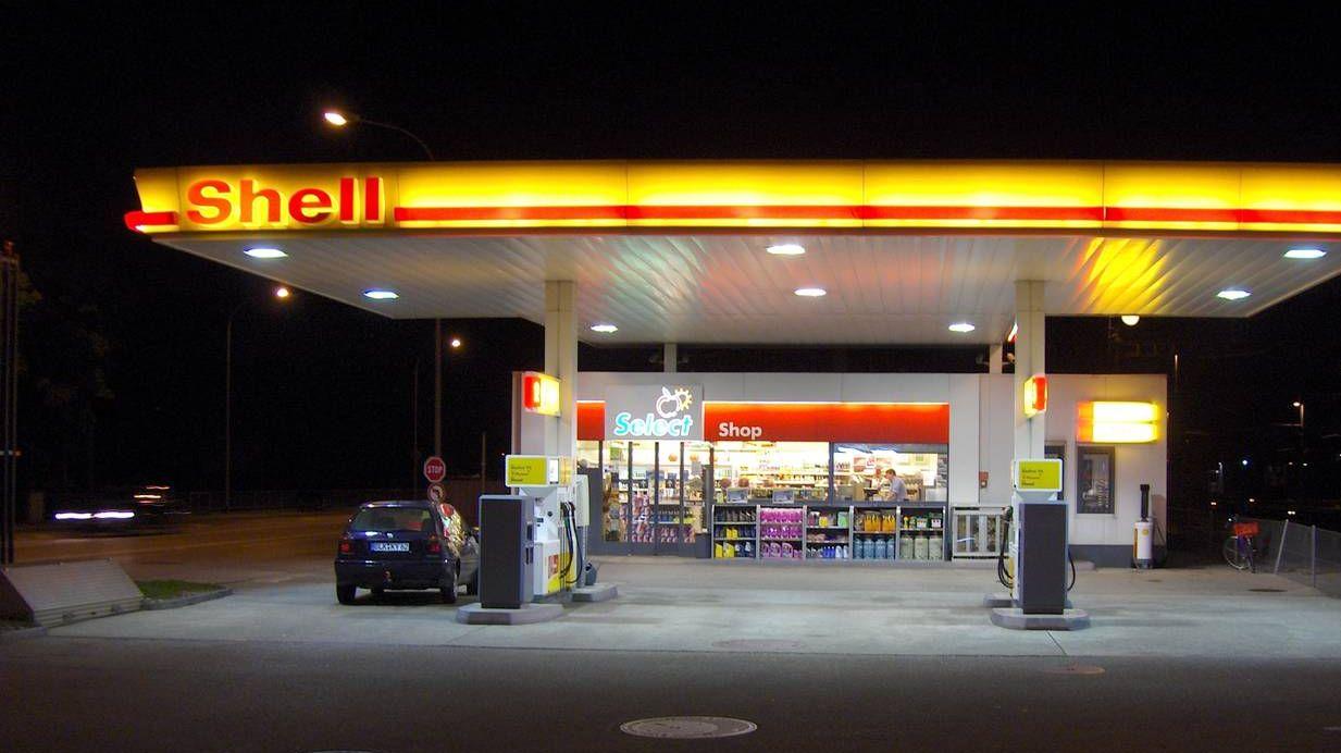 Заправочная станция компании Shell