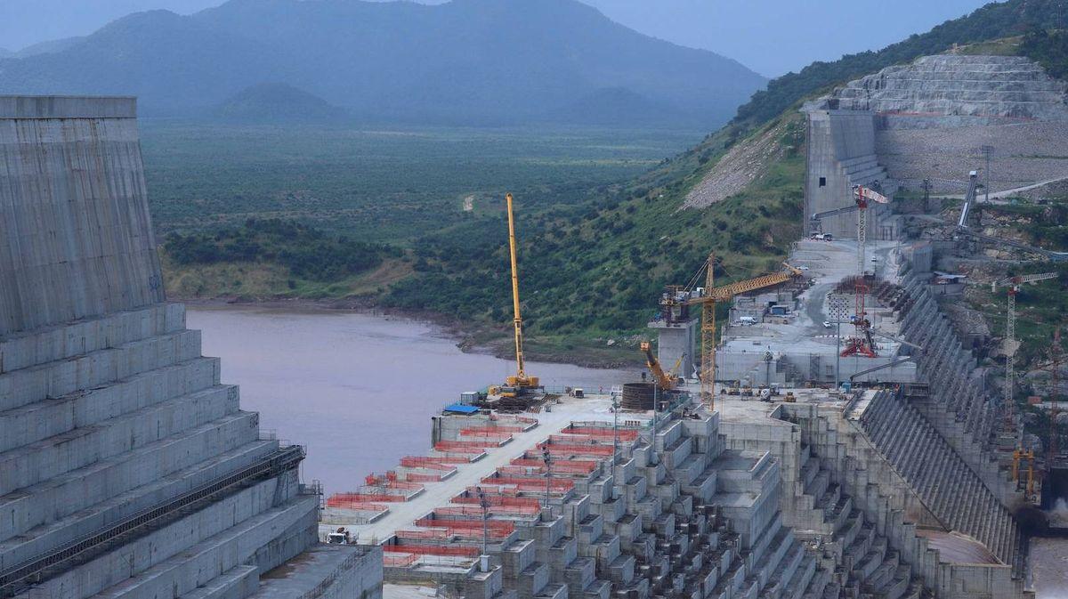 Строительство плотины на Голубом Ниле в Эфиопии