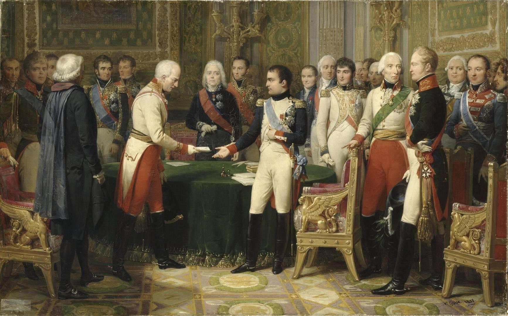 Николя Госс. Встреча Наполеона с Александром