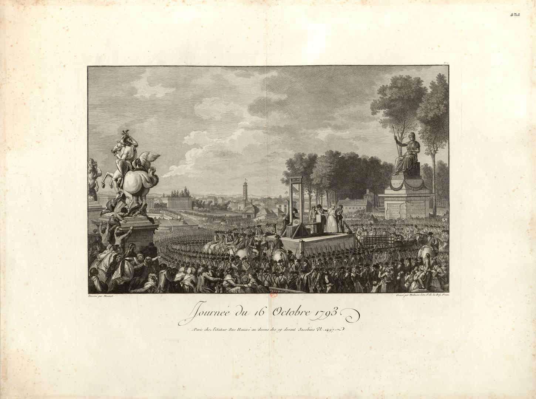 Шарль Моне. Казнь Марии-Антуанеты 16 октября 1793. 1794