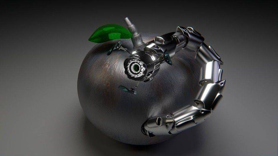 робот, червь, apple