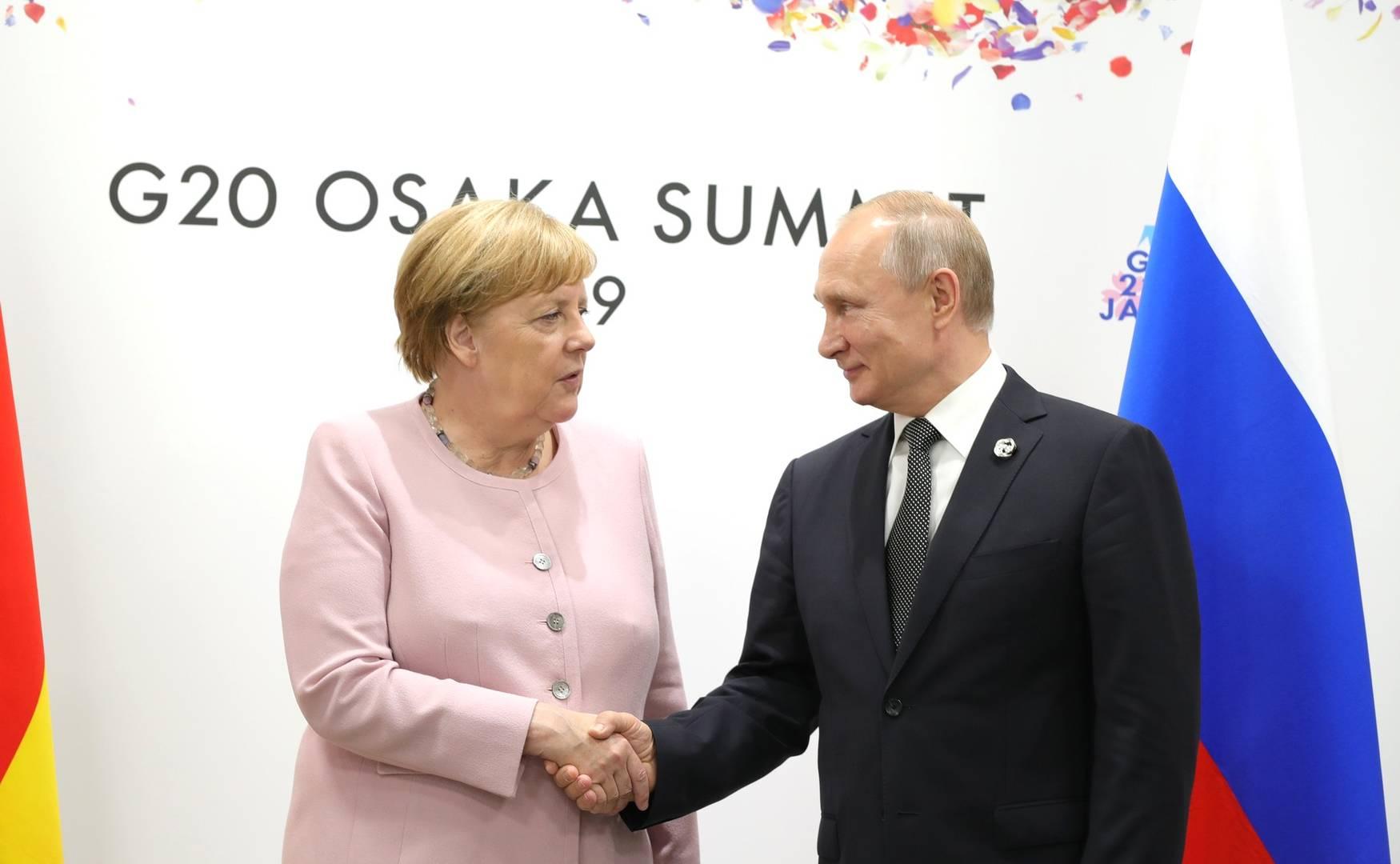 Встреча Владимира Путина с Ангелой Меркель