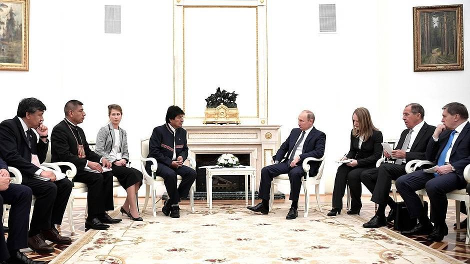 Встреча с президентом Боливии Эво Моралесом