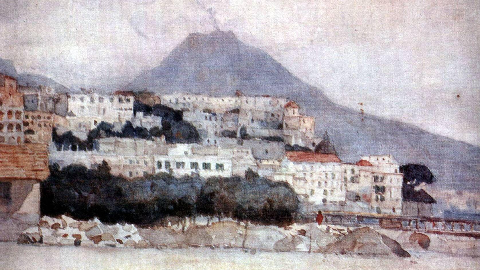 Василий Суриков. Неаполь. Везувий (фрагмент). 1884 г.