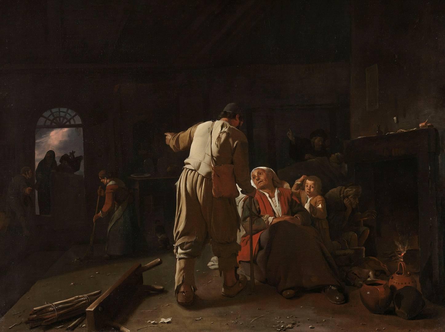 Михаэль Свертс. Посещение больного. Ок. 1646–1649