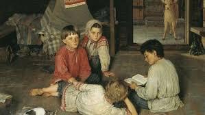 Богданов-Бельский Николай. Новая сказка. Фрагмент. 1891