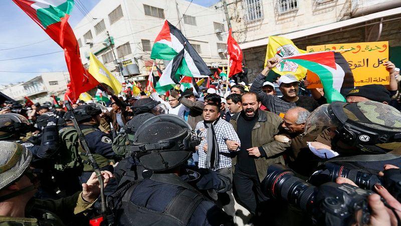 Протесты палестинцев в Израиле