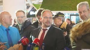 Евгений Чудновский на открытии  аэропорта «Платов»