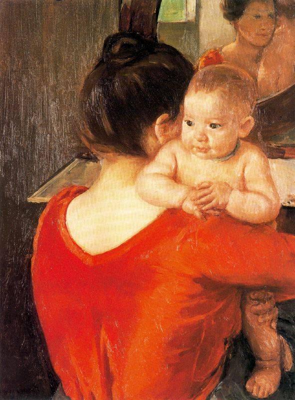 Кассат Мэри. Мать и дитя. 1900