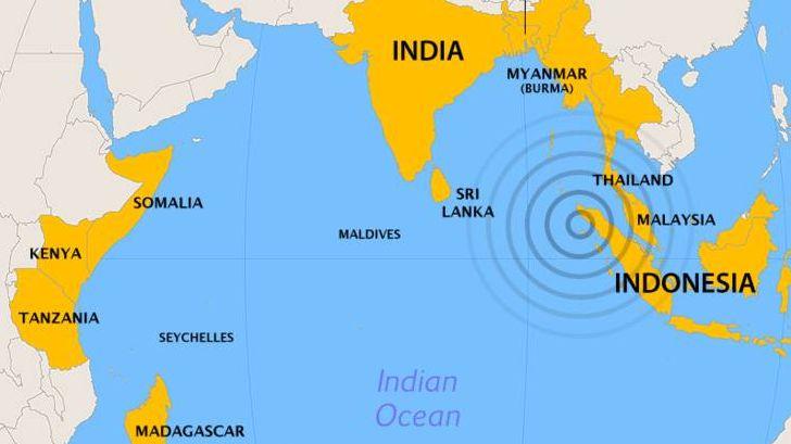 Землетрясение в Индийском океане