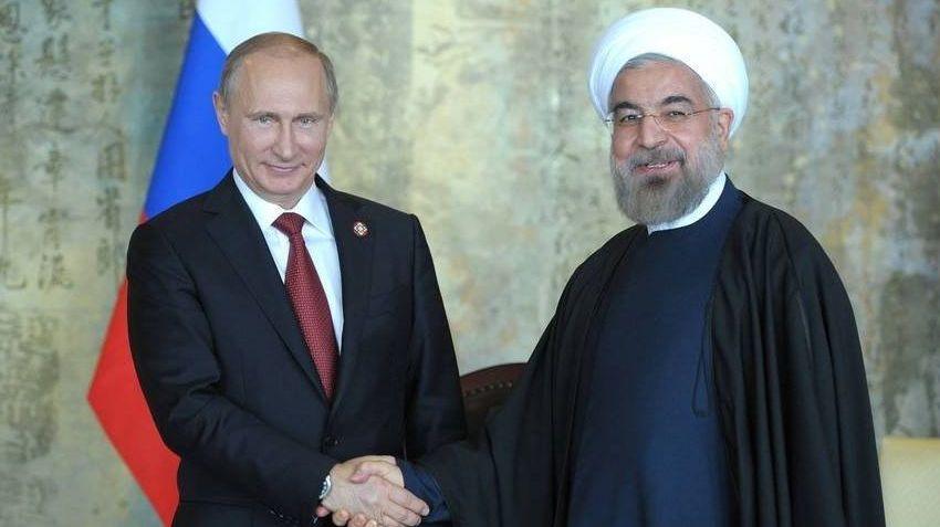 Владимир Путин и Хасан Рухани