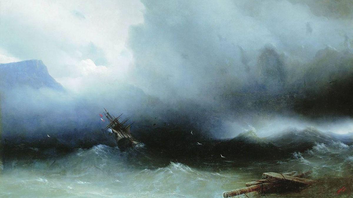 Иван Константинович Айвазовский. Ураган на море. 1850