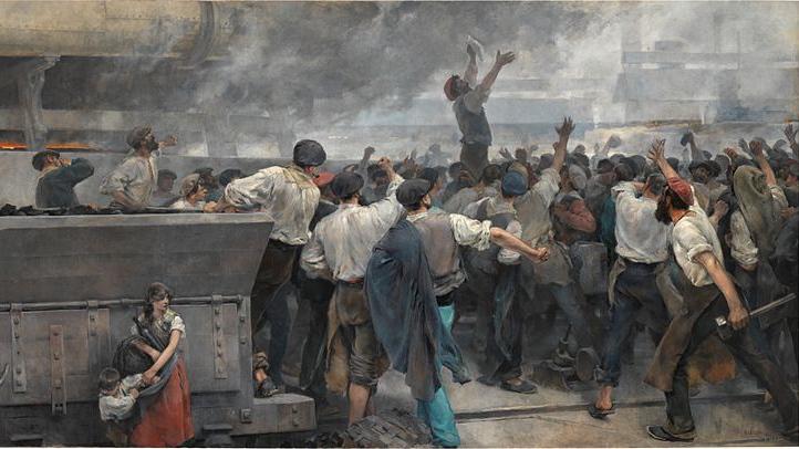 Висенте Кутанда. Забастовка рабочих в Бискайском. 1892