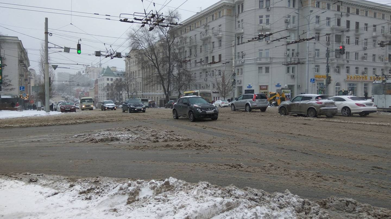 Снег в Ростове-на-Дону. 12.02.2018
