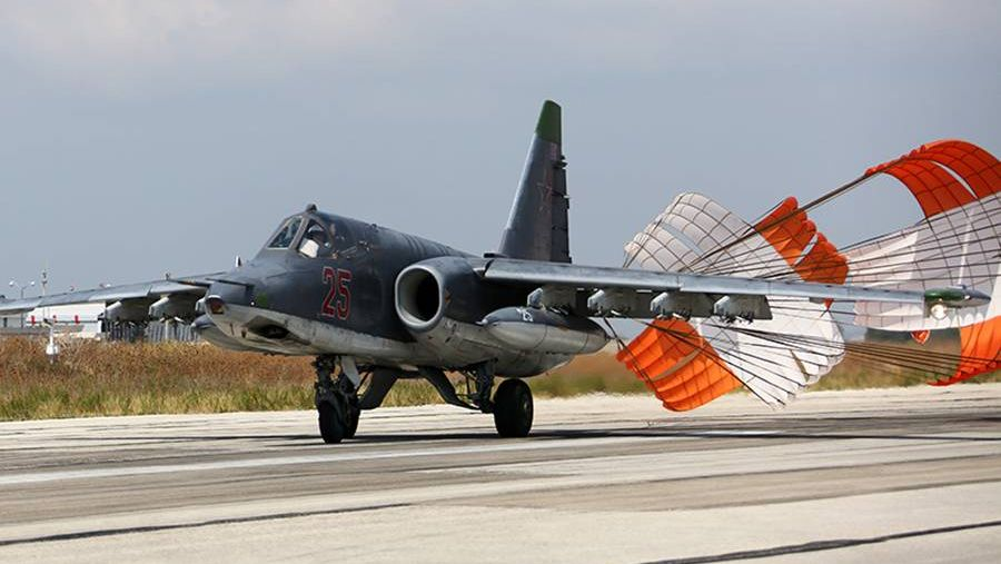Су-25СМ в Латакии. Авиабаза Хмеймим, Сирия