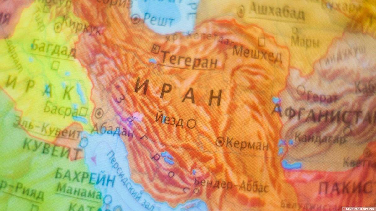 Иран на карте мира