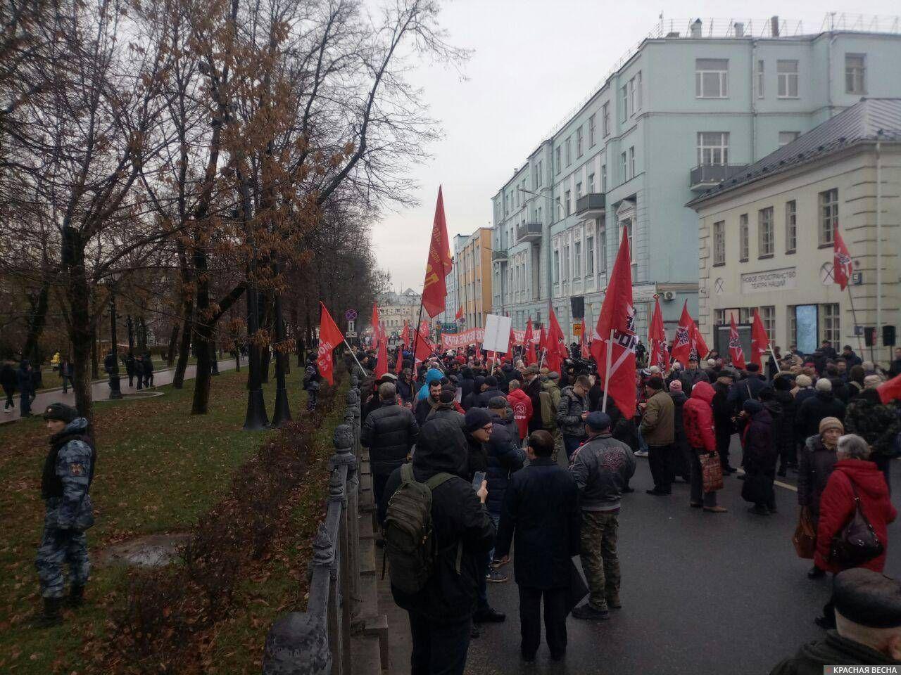 Левый фронт, на подступах к митингу КПРФ