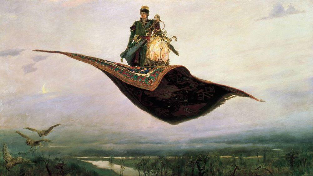 Васнецов Виктор. Ковёр-самолёт. 1880
