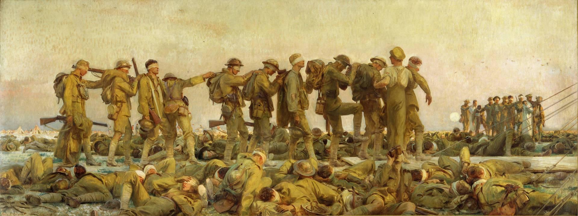 Сарджент Джон Сингер. Отравленные газами. 1918