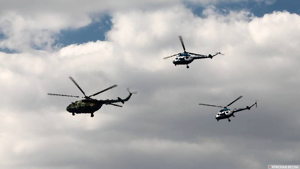 Группа вертолетов