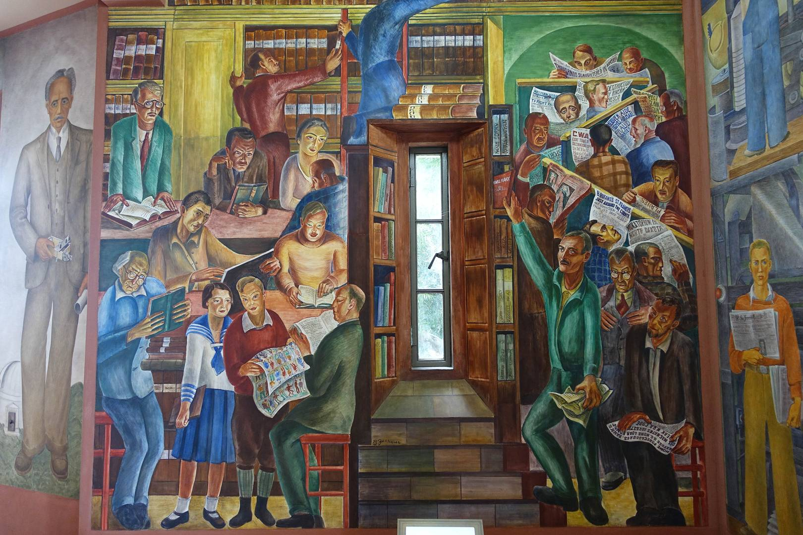 Бернард Закхайм. Библиотека (фрагмент). 1934