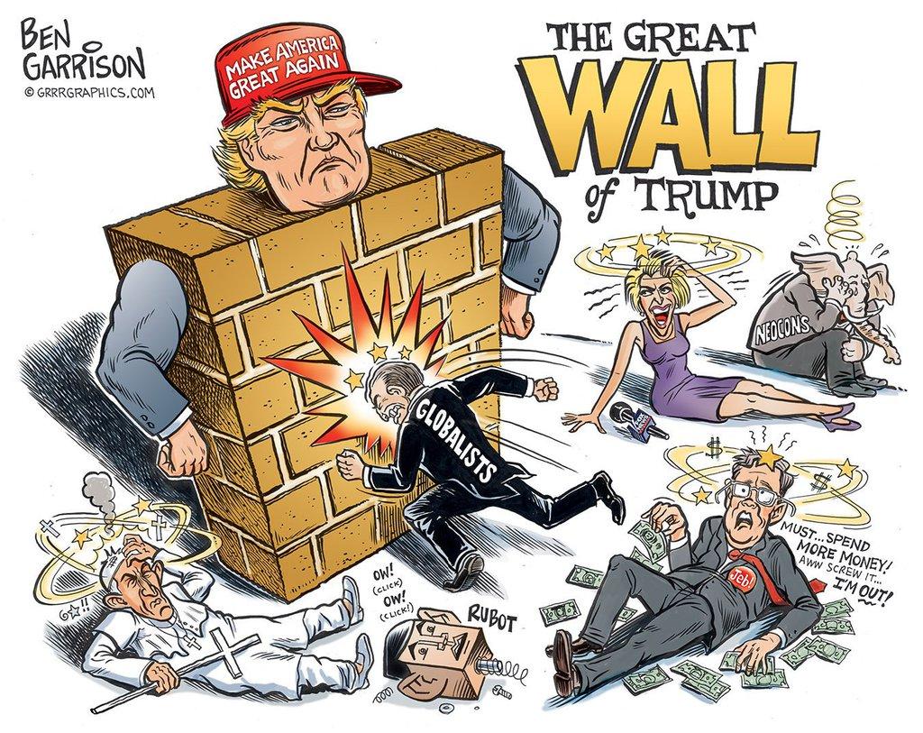 Бен Гаррисон. Великая стена Трампа. Февраль 2016 г.