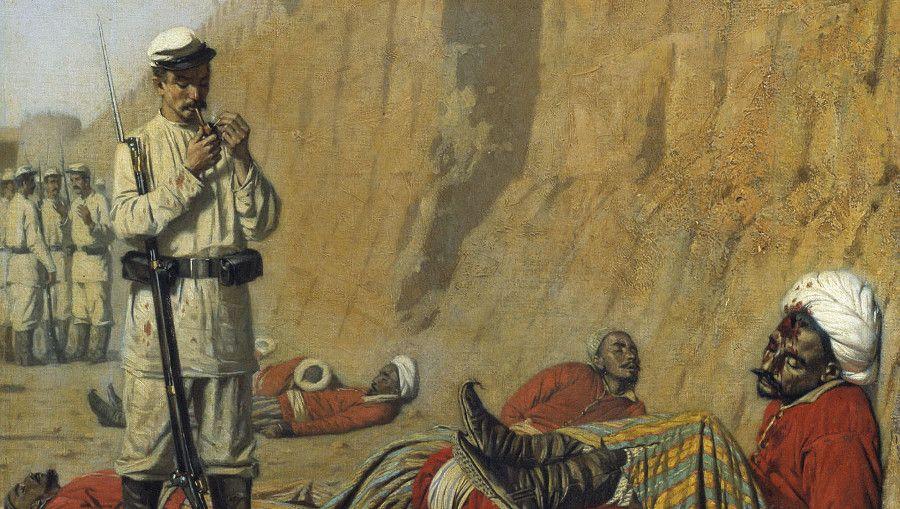 Василий Верещагин. После неудачи (фрагмент). 1868