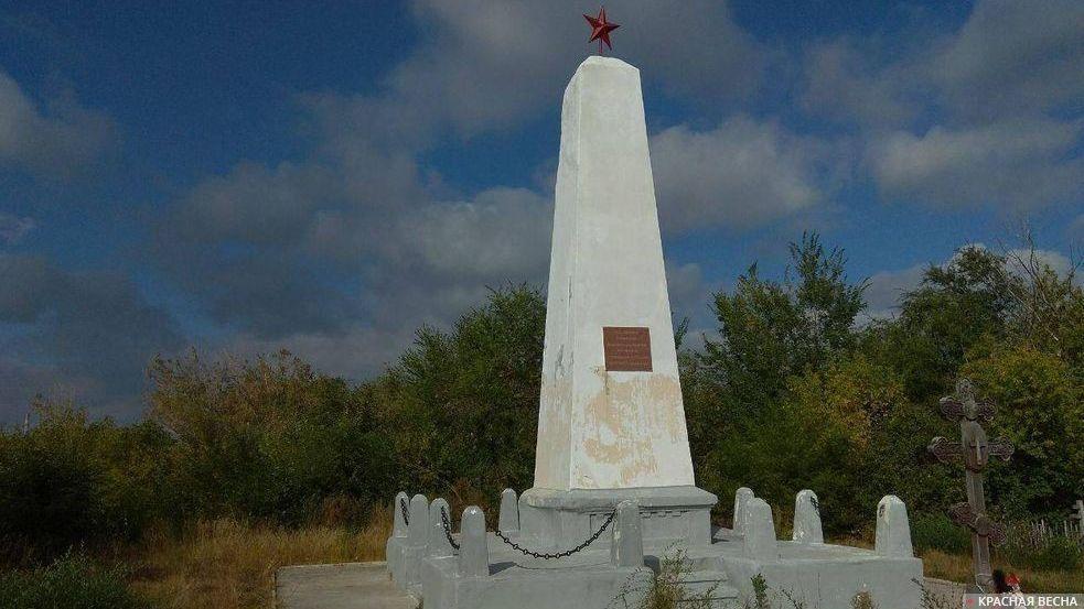 Памятник рабочим Чапаевска, убитым белочехами