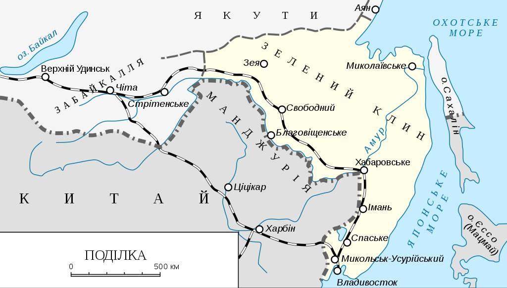 Карта «Зеленого клина» 1917-1922
