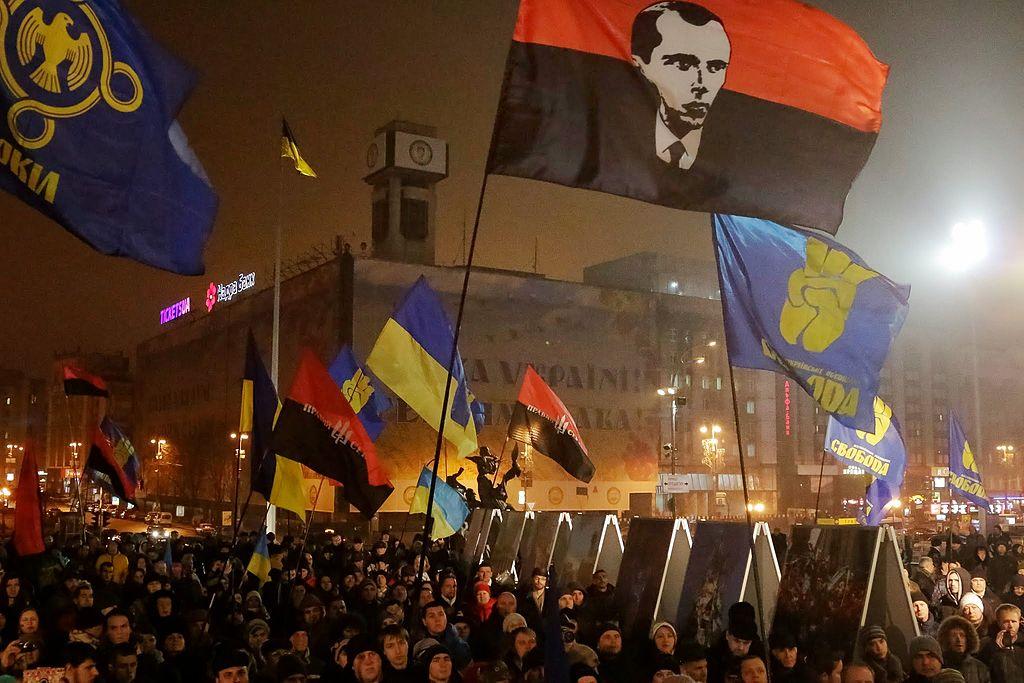 Украинские националисты. Киев.[(cc)All-Ukrainian Union «Freedom» Picasa web album]