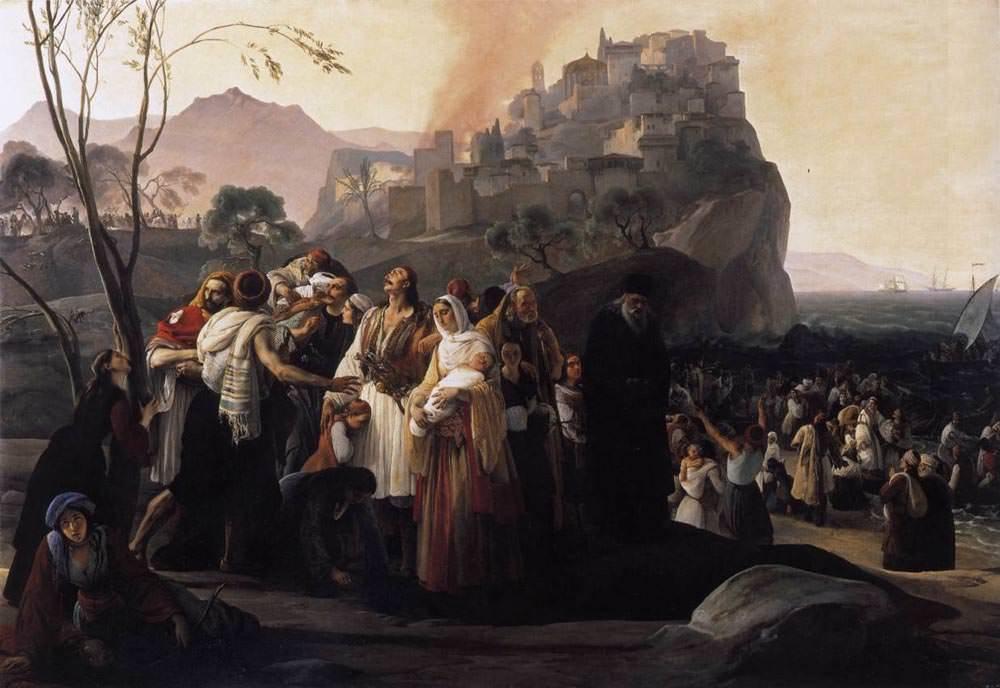 Франческо Айец. Беженцы из Парги