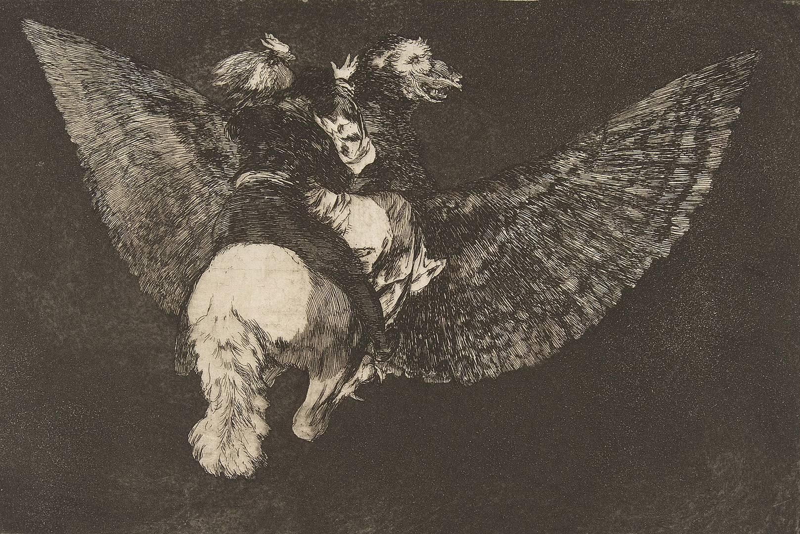Франсиско Гойя. Летающая глупость. Ок. 1816–1823